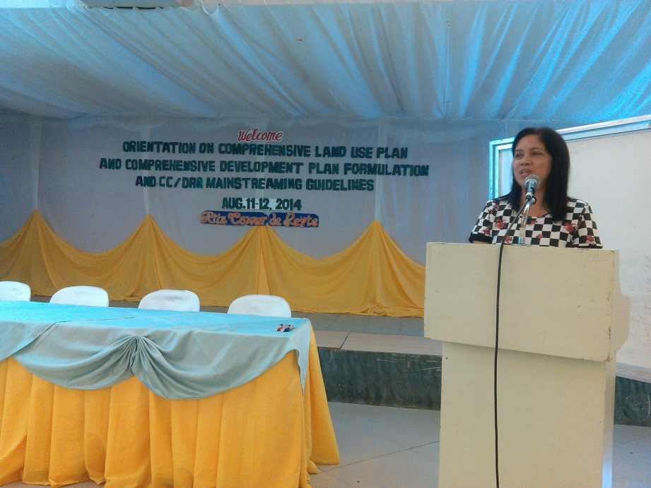 Priscella Mejllano, CCCI National Coordinator, explains how the VAA can enhance the land use planning process. Photo: UN-Habitat/L.Pelingon.