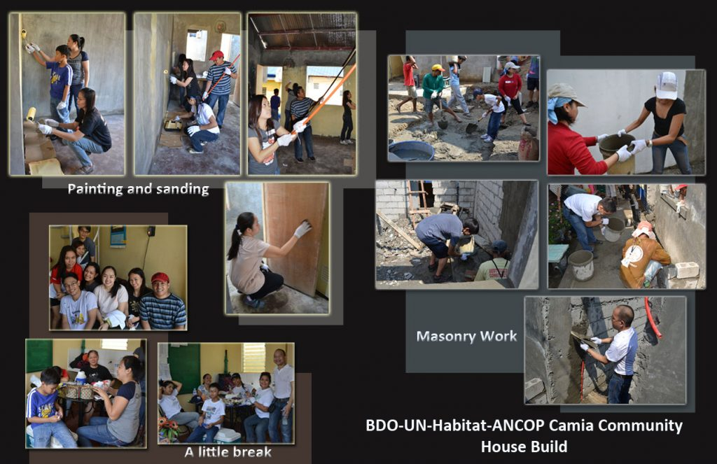 Building Lives Through the BDO, UN-Habitat and ANCOP House Build 2