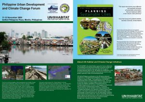 Philippine Urban Development and Climate Change Forum Brochure 1