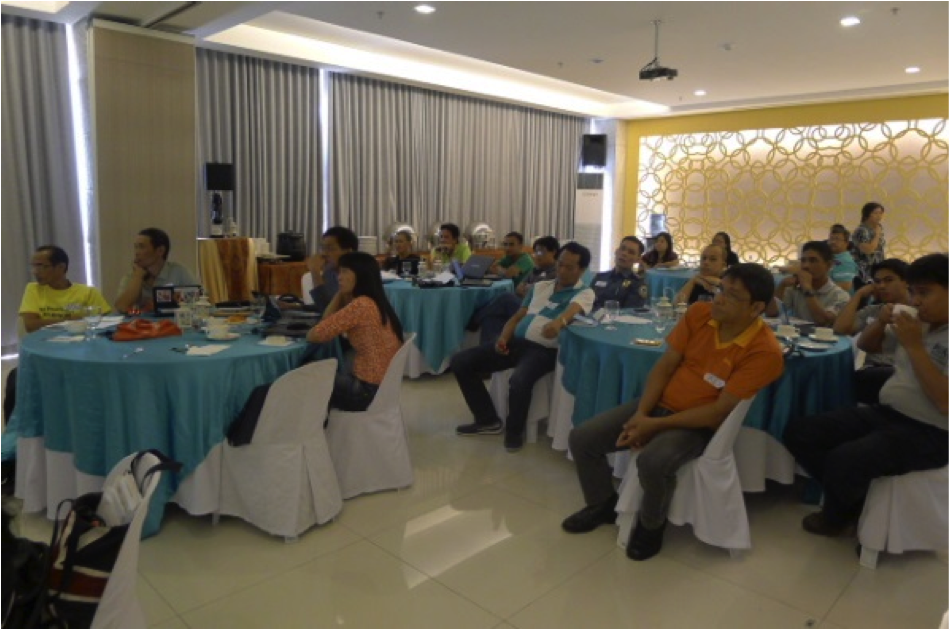 Silay City's technical working group during the climate change vulnerability assessment.