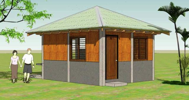 3-D rendering of a typical core house shelter to be provided to the beneficiaries. Illustration by Al Berdugo.